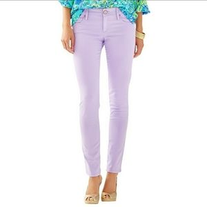 Lilly Pulitzer Womens Lavender Worth Skinny Pants